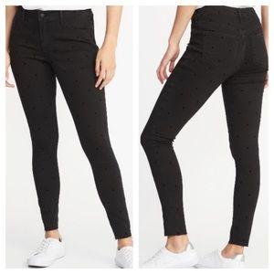 ➕ Old Navy Rockstar Black Dot Skinny Jeans 7T